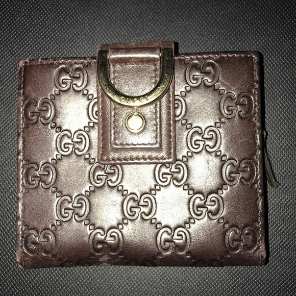 Gucci Handbags - Guccissma Leather Brown D Ring Wallet